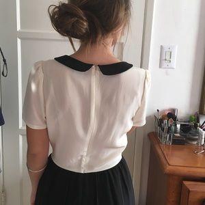 Cooperative Dresses - Peterpan collared vintage silk dress/skort! 👗